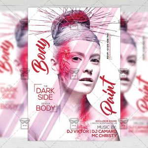 Download Body Paint Party PSD Flyer Template Now
