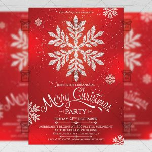 Download Christmas Invitation PSD Flyer Template Now