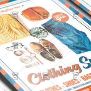 Download Clothing Swap PSD Flyer/Poster Template Now