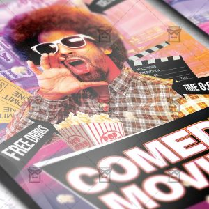 Download Comedy Movies PSD Flyer/Poster Template Now