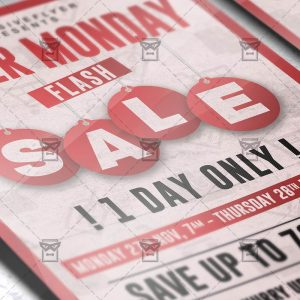 Download Cyber Monday Flash Sale PSD Flyer/Poster Template Now