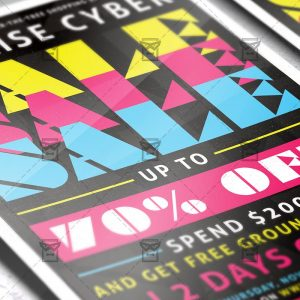 Download Cyber Sale PSD Flyer Template Now
