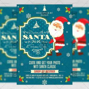Download Dinner with Santa PSD Flyer Template Now