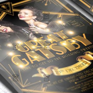 Download Great Gatsby Night PSD Flyer Template Now