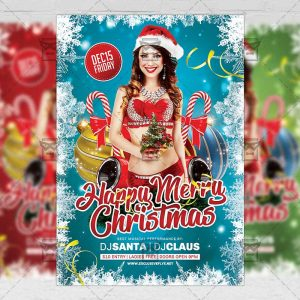 Download Happy Merry Christmas PSD Flyer Template Now