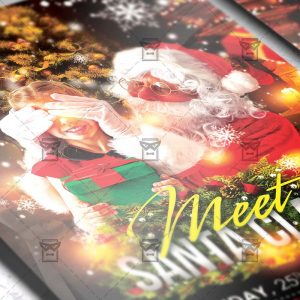 Download Meet Santa PSD Flyer Template Now