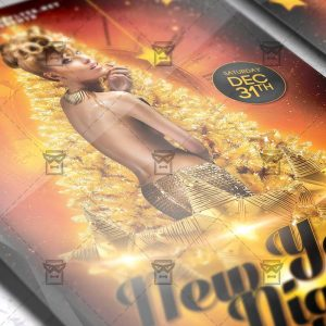 Download New Year Night 2018 PSD Flyer Template Now