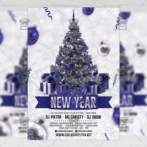 Download New Year Party 2018 PSD Flyer Template Now