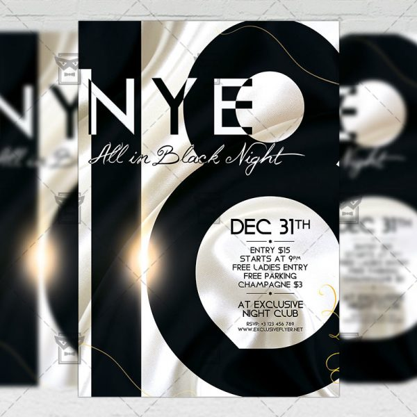 Download NYE 2018 PSD Flyer Template Now