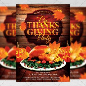 Download Pre Thanksgiving Party PSD Flyer/Poster Template Now