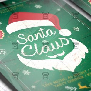 Download Santa Claus PSD Flyer/Poster Template Now