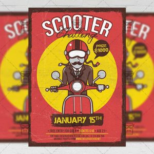 Download Scooter Challenge PSD Flyer Template Now