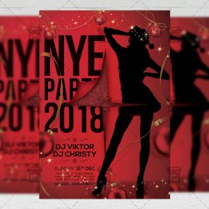 Download Sexy NYE Night 2018 PSD Flyer Template Now