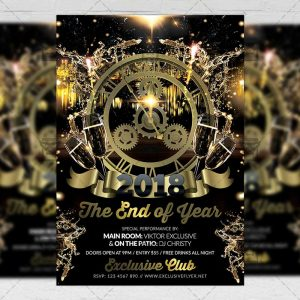 Download The End of Year Night PSD Flyer Template Now