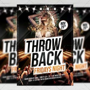 Download Throwback Fridays PSD Flyer Template Now