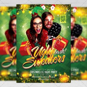 Download Ugly Sweaters Bash PSD Flyer/Poster Template Now