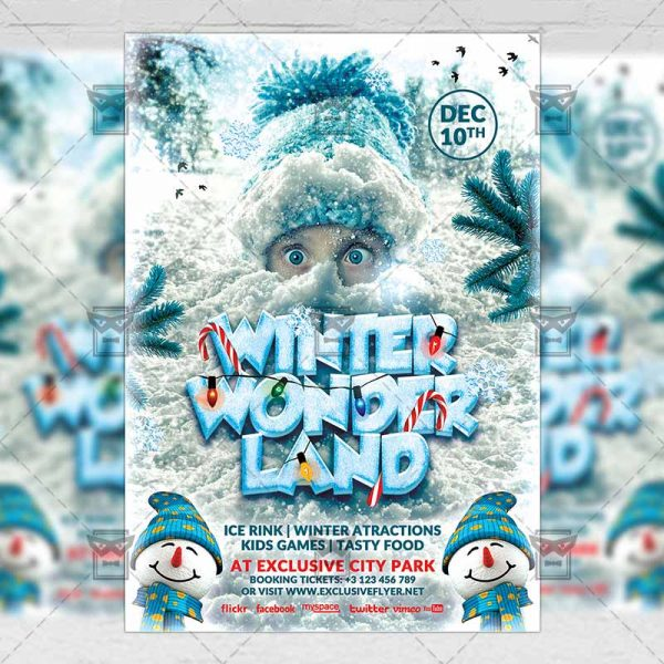 Download Winter Wonderland PSD Flyer/Poster Template Now