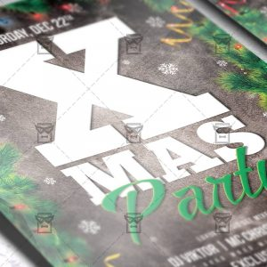 Download Xmas 2018 PSD Flyer Template Now