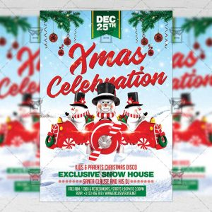Download Xmas Celebration 2018 PSD Flyer Template Now