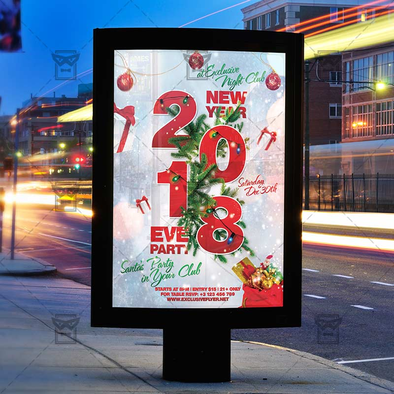 Download 2018 New Year Eve PSD Flyer Template Now