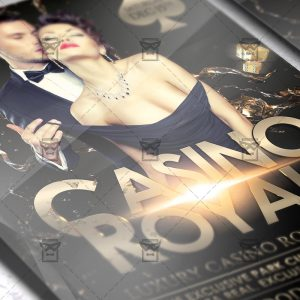 Download Casino Royale PSD Flyer Template Now