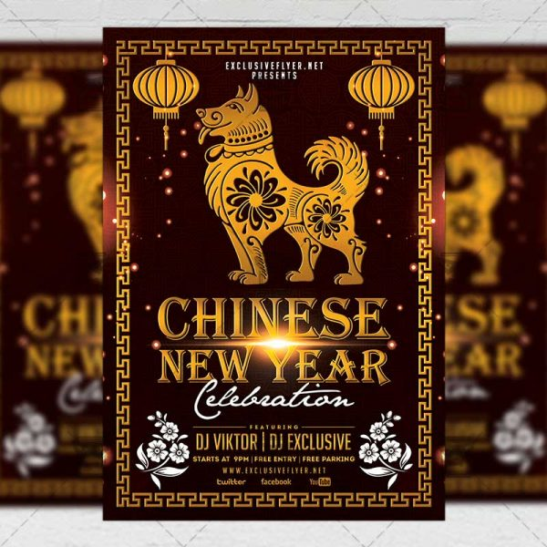 Download Chinese New Year Celebration PSD Flyer Template Now