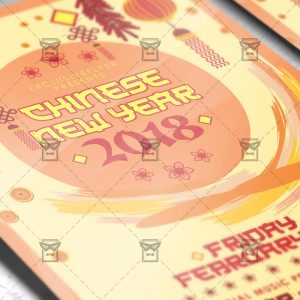 Download Chinese New Year Party PSD Flyer Template Now