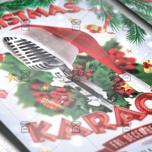 Download Christmas Karaoke PSD Flyer Template Now