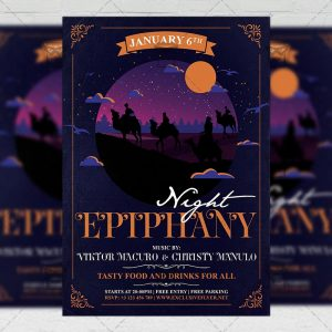 Download Epiphany Night PSD Flyer Template Now