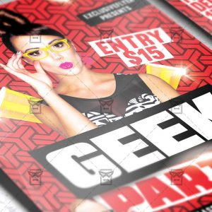 Download Geek Party PSD Flyer Template Now