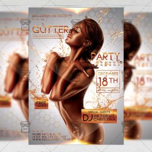 Download Glitter Night PSD Flyer Template Now
