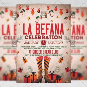 Download La Befana Celebration PSD Flyer Template Now