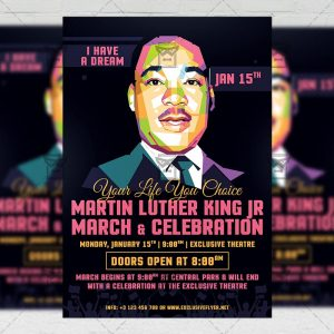 Download Martin Luther King Day PSD Flyer Template Now
