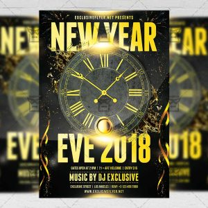 Download New Year Eve 2018 PSD Flyer Template Now