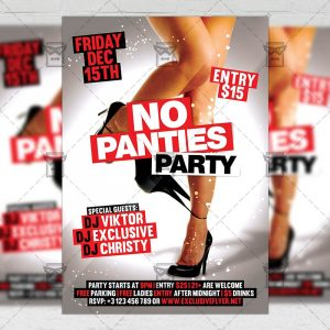 Download No Panties Party PSD Flyer Template Now