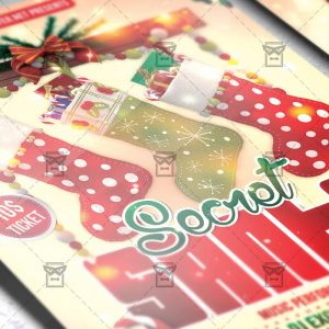 Download Secret Santa PSD Flyer Template Now