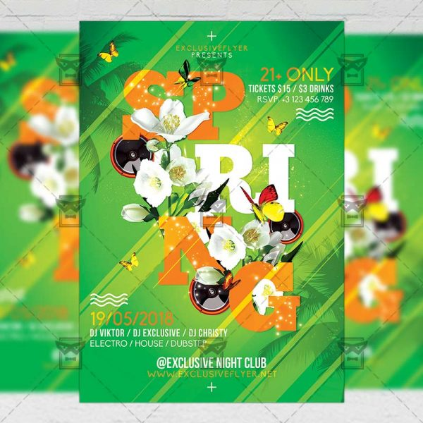 Download Spring Bash PSD Flyer Template Now