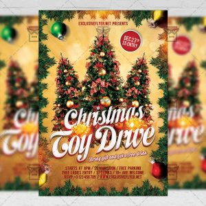 Download Toy Drive Free Seasonal A5 Flyer PSD Template Now