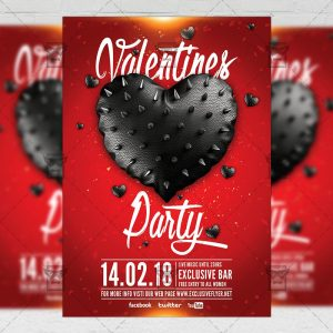 Download Valentine Celebration Party PSD Flyer Template Now