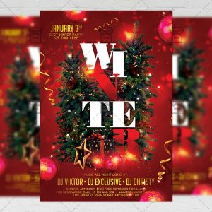 Download Winter Party PSD Flyer Template Now