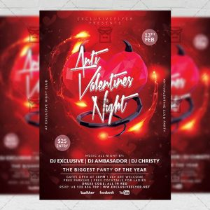 Download Anti Valentines Night PSD Flyer Template Now