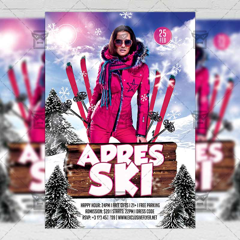 Apres Ski Party  Seasonal A Flyer Template  Exclsiveflyer  Free