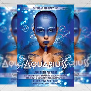 Download Aquarius Night PSD Flyer Template Now