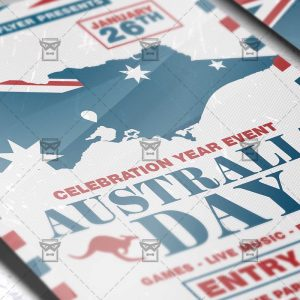 Download Australia Day Celebration PSD Flyer Template Now