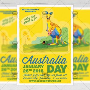 Download Australia Independence Day Party PSD Flyer Template Now
