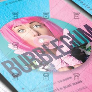 Download Bubblegum Party PSD Flyer Template Now