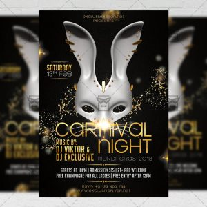 Download Carnival Night PSD Flyer Template Now