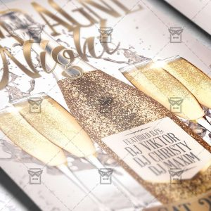 Download Champagne Night PSD Flyer Template Now