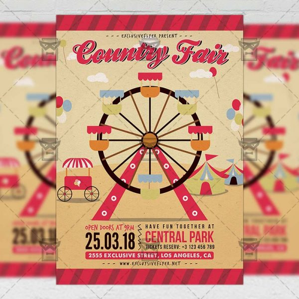 Download Country Fair PSD Flyer Template Now