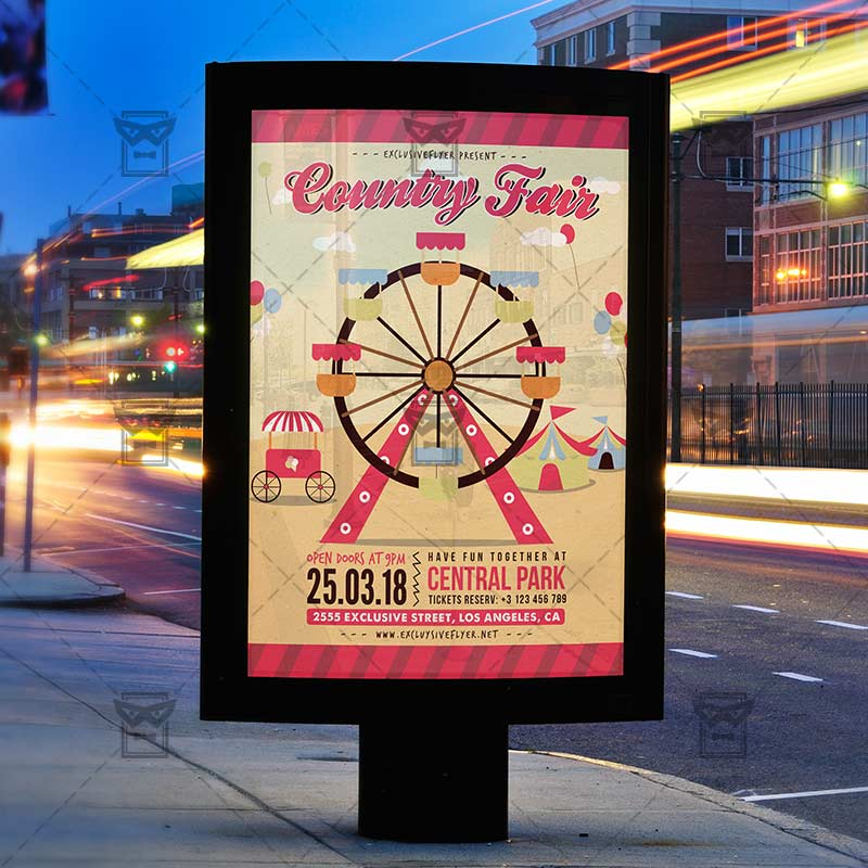 Country Fair Community A5 Flyer Template Exclsiveflyer Free